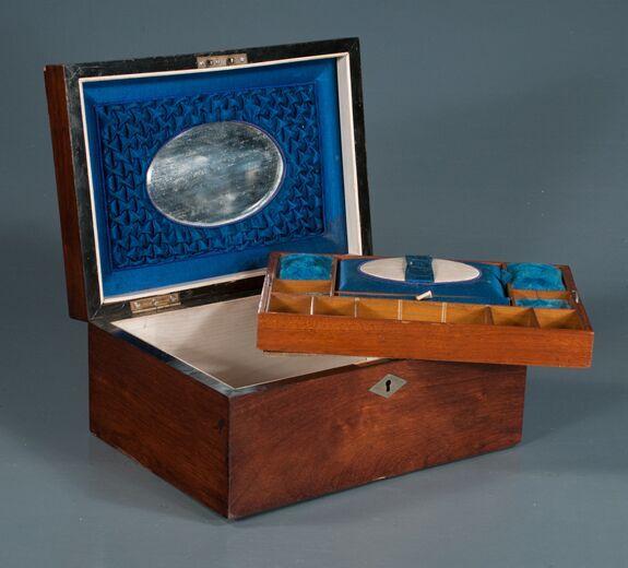 Inlaid Mahogany and Rose Wood Sewing Box (SOLD)