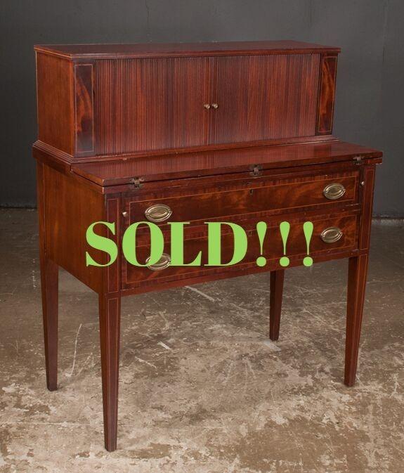 American Sheraton Mahogany Desk  (SOLD)