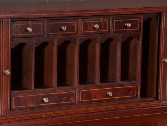American Sheraton Mahogany Desk