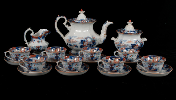 """Knight and Elkin"" English Ironstone Tea Set"