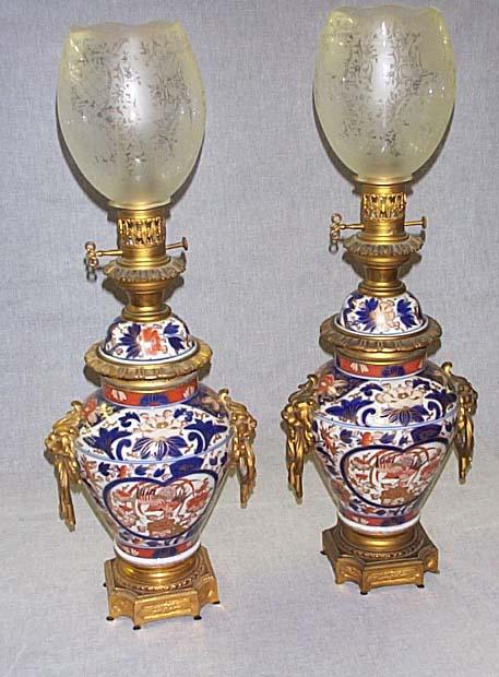 Imari Oil Lamps