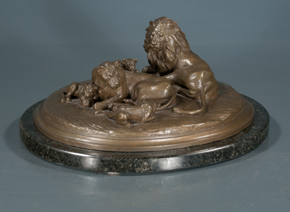 Bronze Sculpture of a Pride of Lions