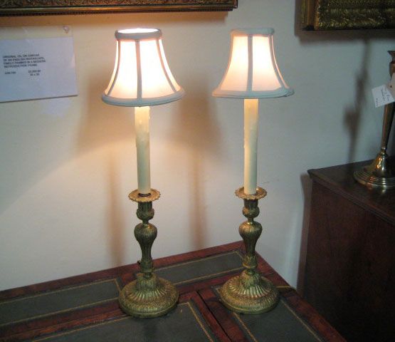 Louis Philippe Candlestick Lamps