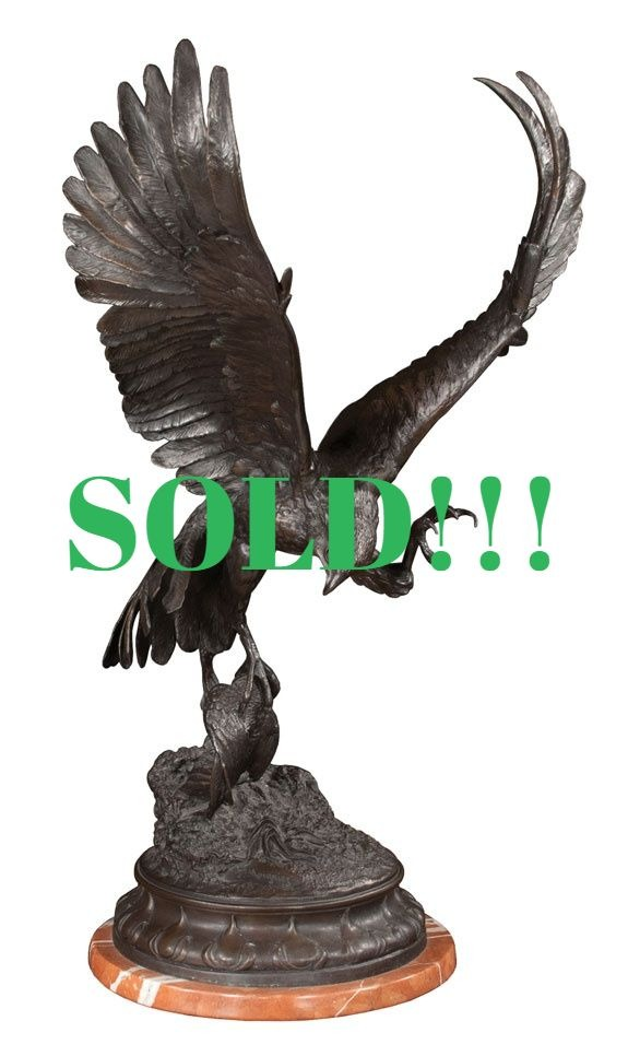Bronze Sculpture of a Falcon  (SOLD)