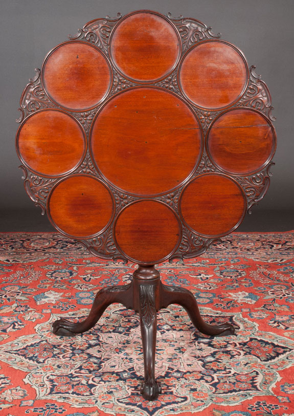Chippendale Mahogany Tripod Supper Table