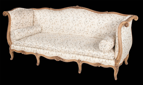 Louis XV Style Carved & Gilt Sofa