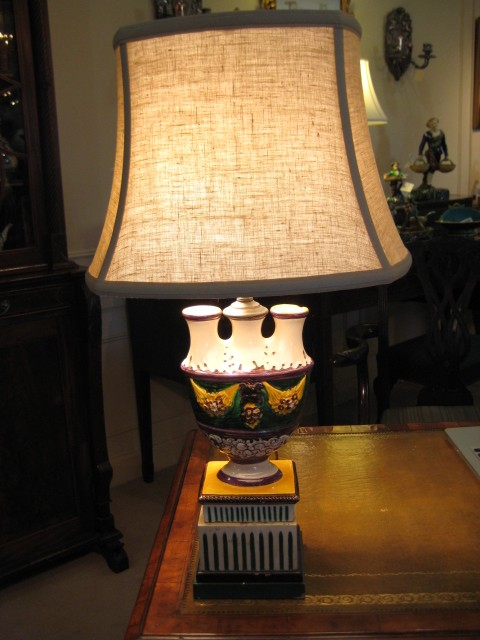 A Hand Painted Italian Lamp