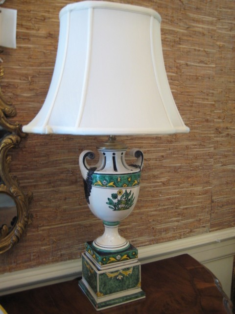 A Pair Of Hand-Painted Italian Lamps