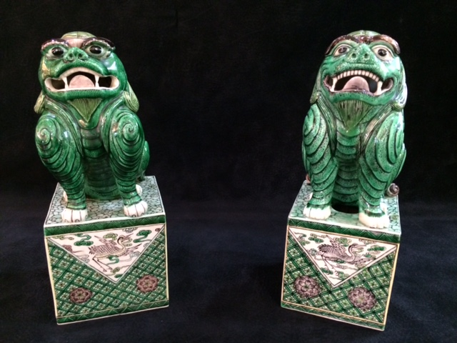 Pair of Chinese Foo Dogs
