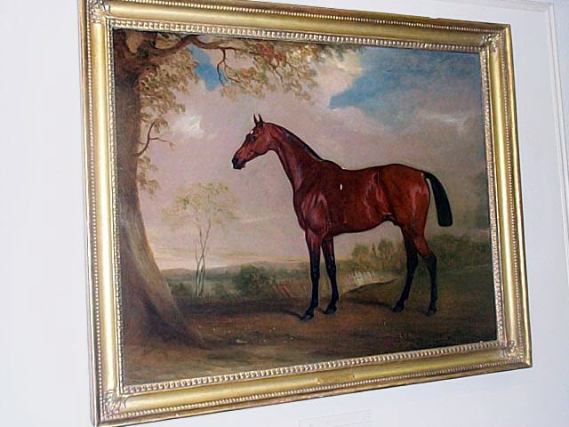 Oil On Canvas Of A Bay Hunter Mare By John Ferneley, Sr.
