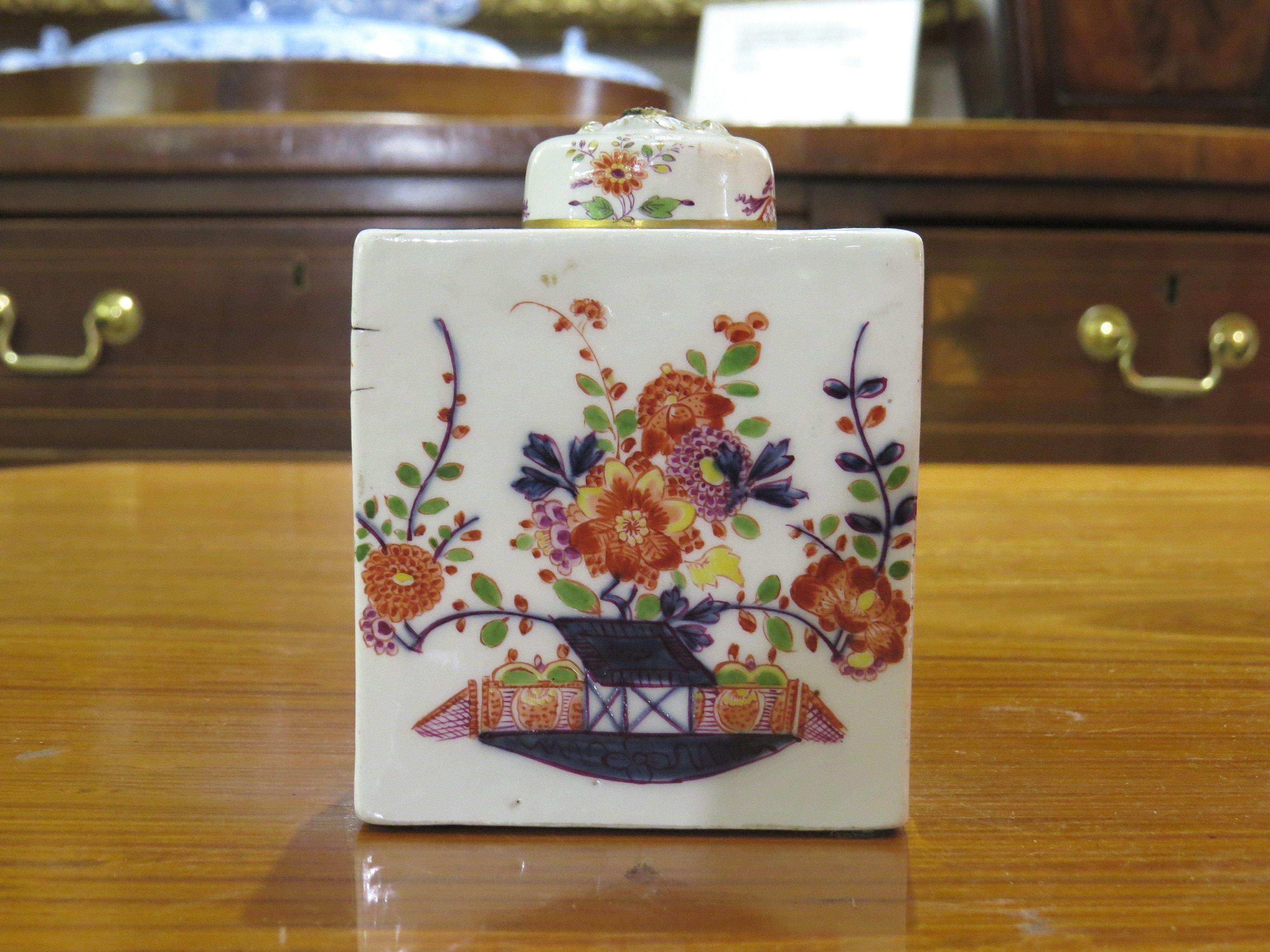 A Meissen Tischchenmuster Rectangular Tea Caddy