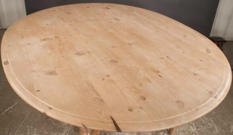 Oval English Pine Dining Table