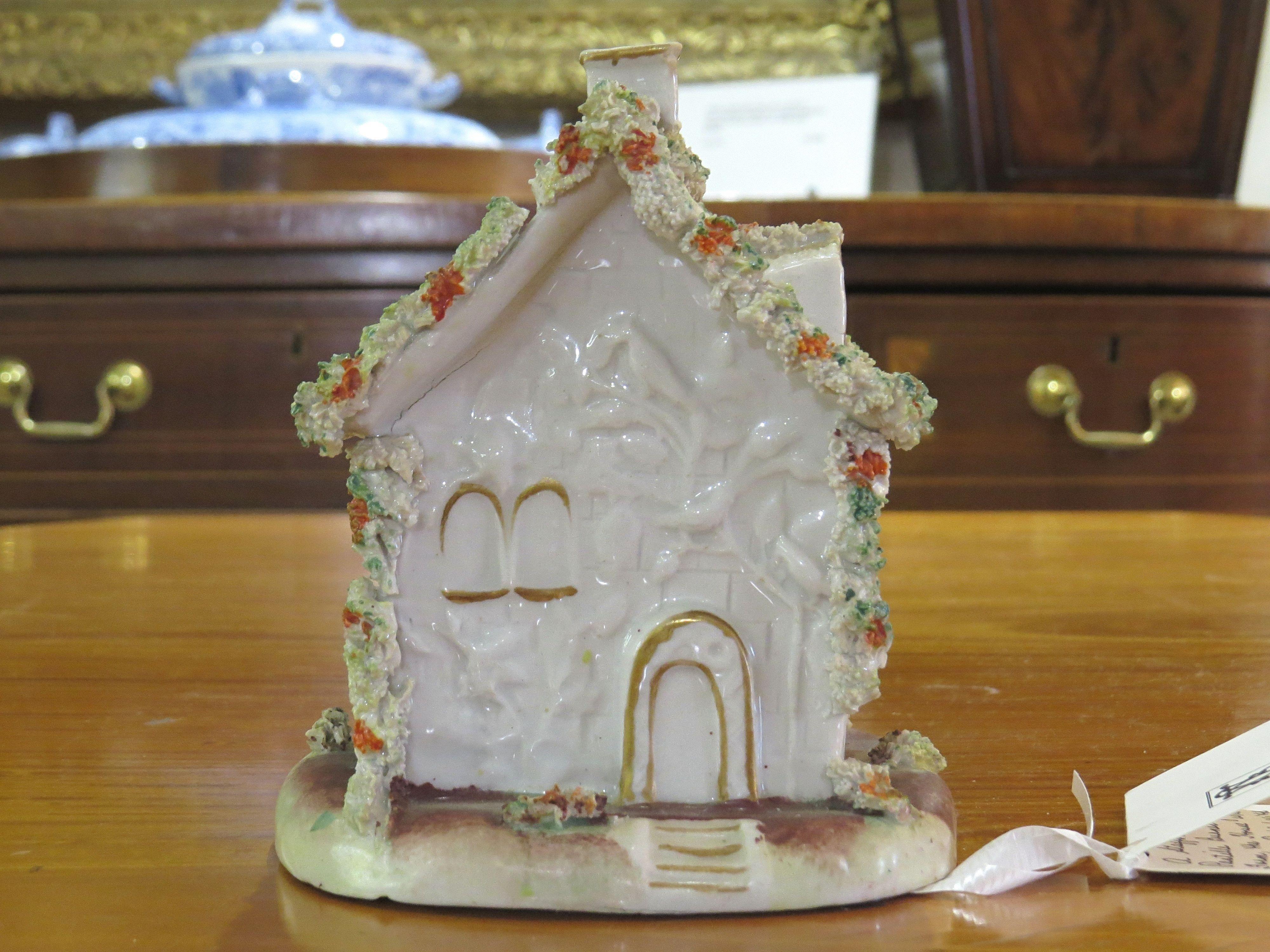 Staffordshire Pastille Burner of House Form