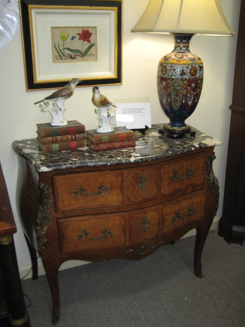 Pair Of Louis XV Style Bombe Commodes  (SOLD)