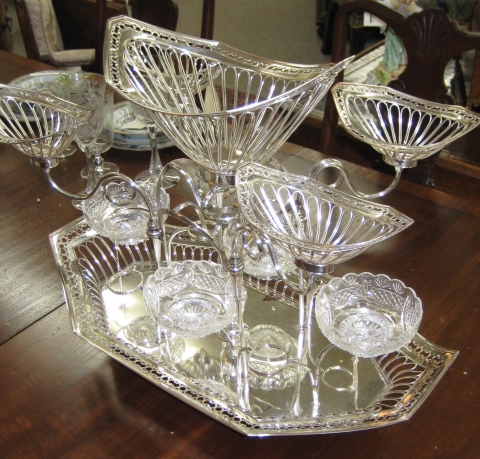 English Silver Plated Epergne