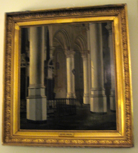 Oil On Panel 'the Tomb Of William The Silent'