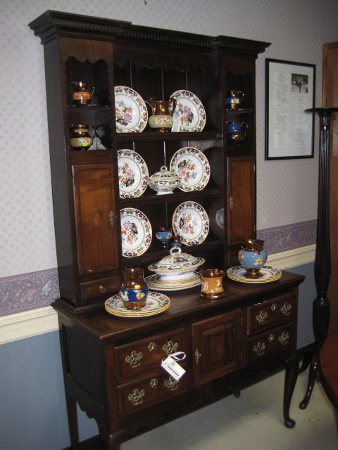 Queen Anne Style Oak Welsh Dresser