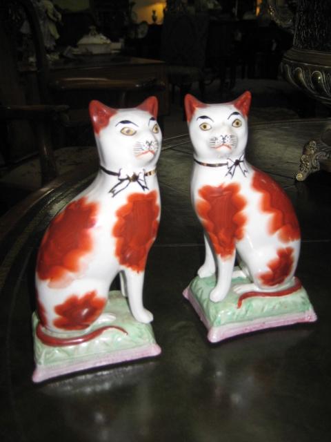 Handpainted Staffordshire Cats
