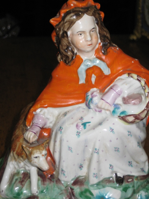 Staffordshire Figure Of Little Red Riding Hood
