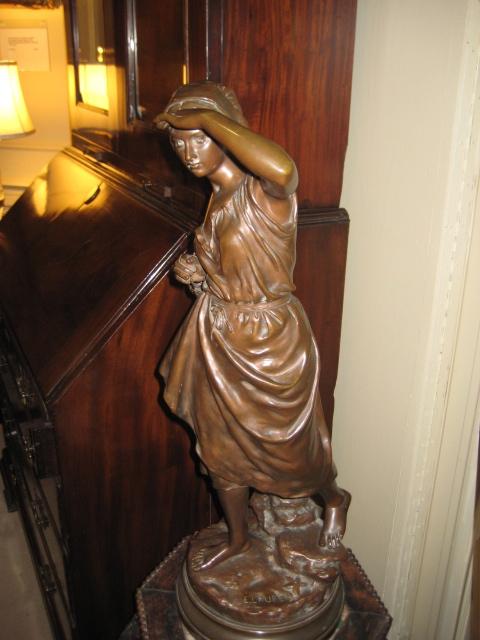 Bronze Sculpture Of A Peasant Woman