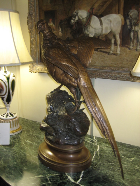 French Bronze Sculpture Of A Pheasant