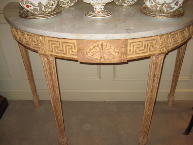 George III Demilune Side Table