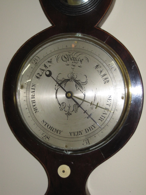 Chippendale Style English Mahogany Barometer
