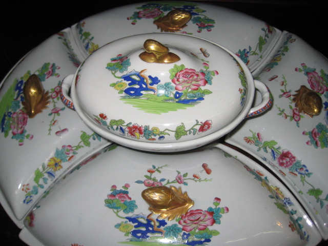 Stone Floral Supper Set
