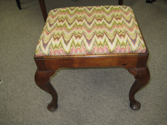George I Walnut Stool