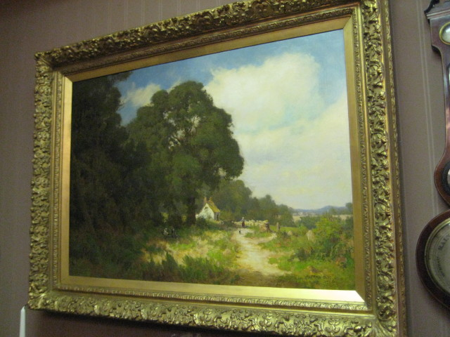 Oil On Canvas Of An English Countryside