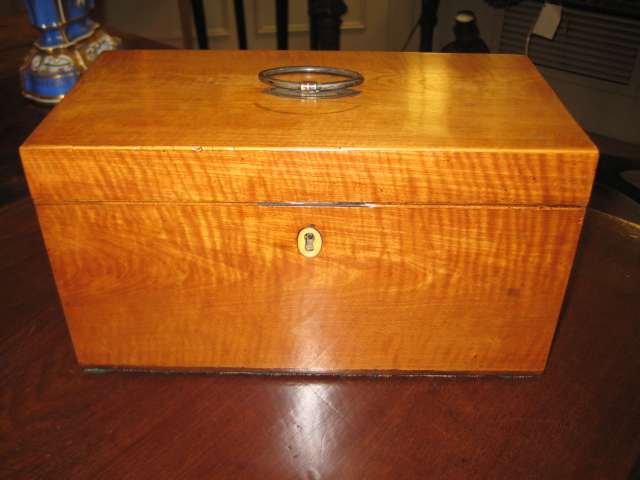 Sheraton Sandalwood Tea Caddy