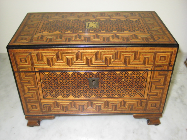 Chippendale Walnut Tea Caddy