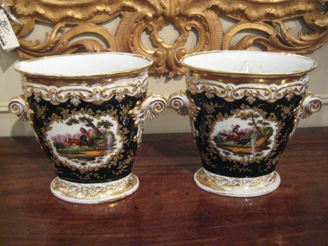 Pair Of Old Paris Planters