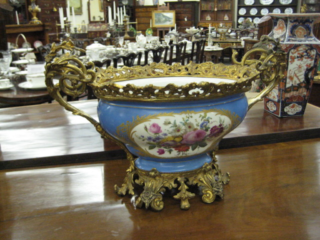 Bronze Mounted Porcelain Centerpiece