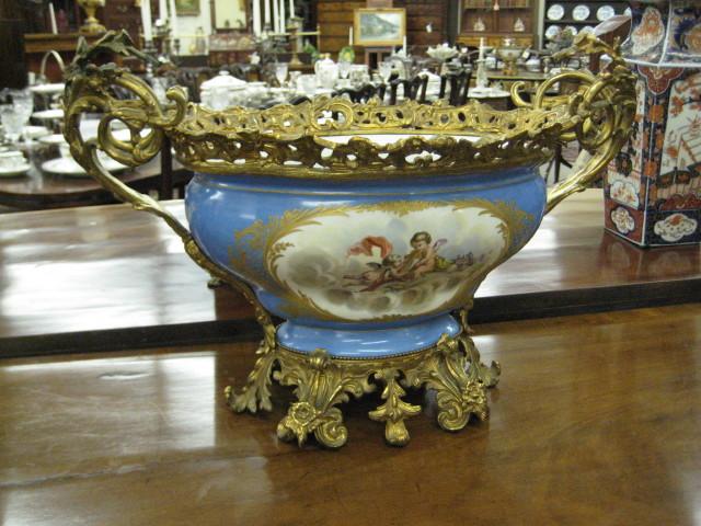 Bronze Mounted Porcelain Centerpiece
