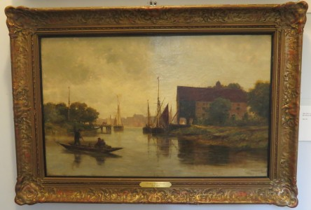 A River Scene;  Oil on Canvas signed by Thomas Bush Hardy