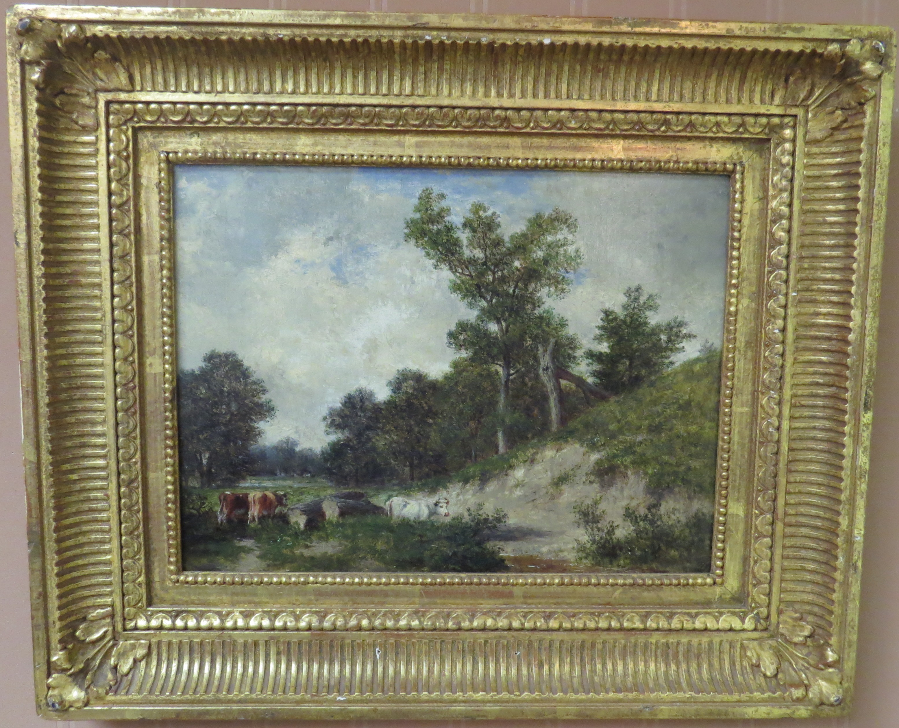 Oil on Canvas of a New England Landscape; Signed David Johnson (1827-1908)