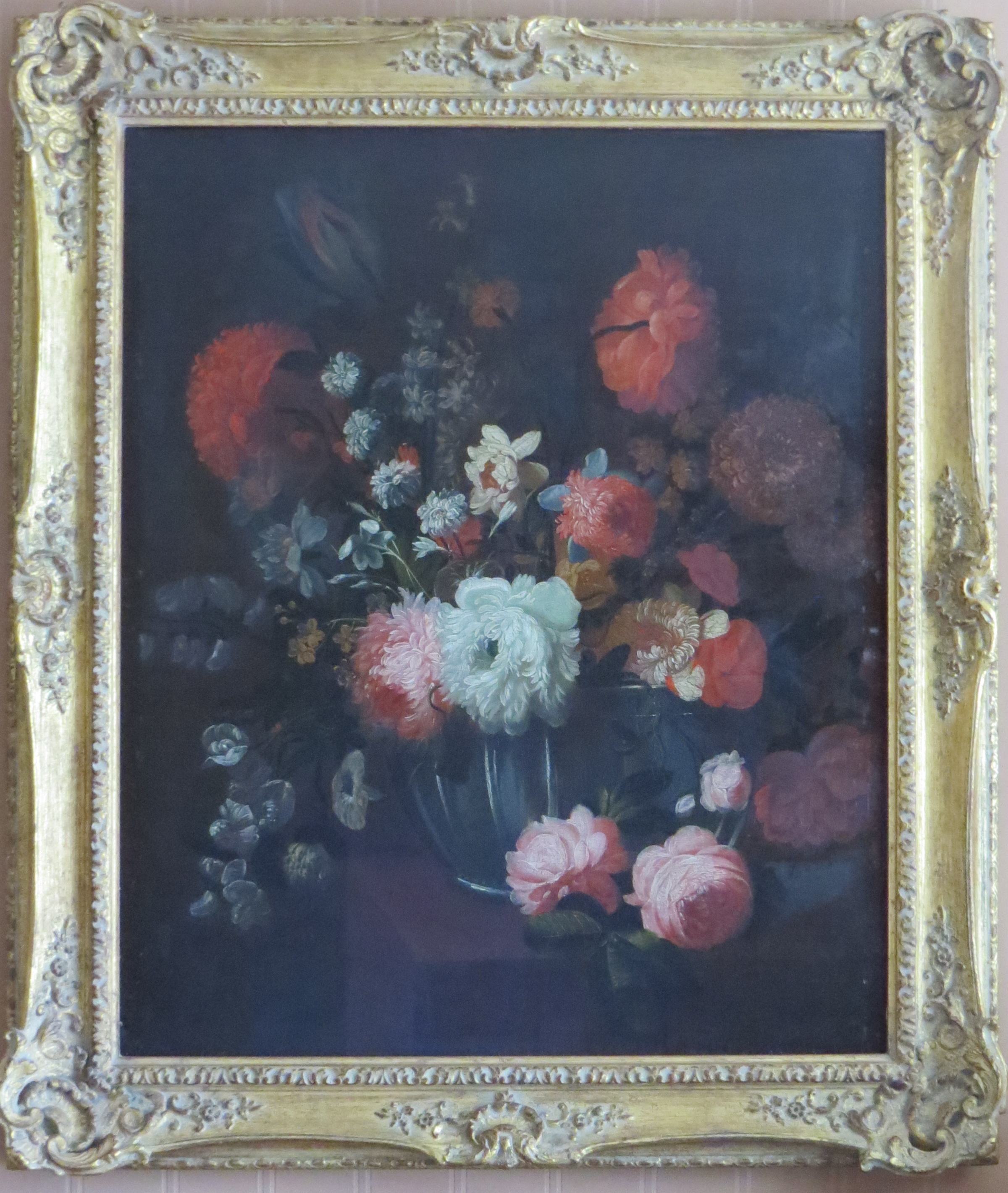 Oil on Canvas of Flowers in a Glass Bowl;  Signed Peter Hardime
