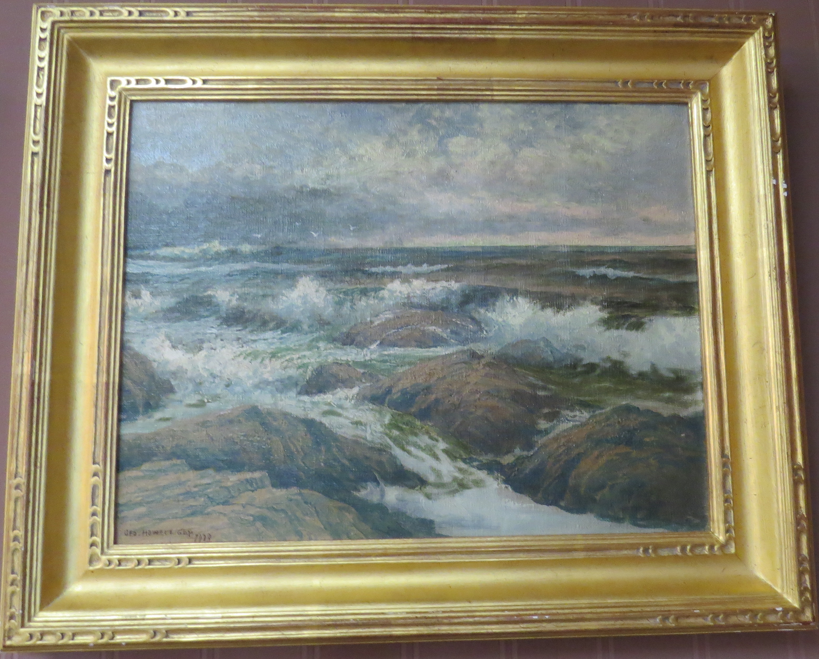 Oil on Canvas of a Coastal Scene, Signed George Howell Gay (American, 1858-1931)