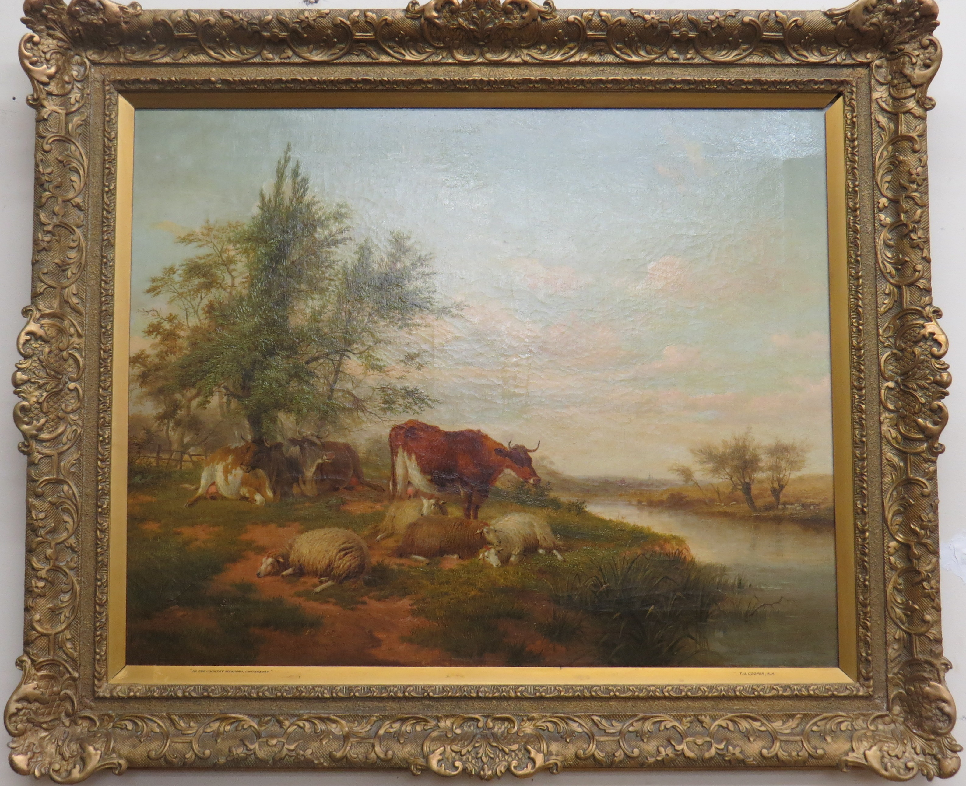 Oil On Canvas By T. Sidney Cooper, R.A.