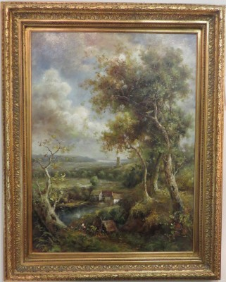 Oil on Canvas of a Landscape, Signed G. Cotner