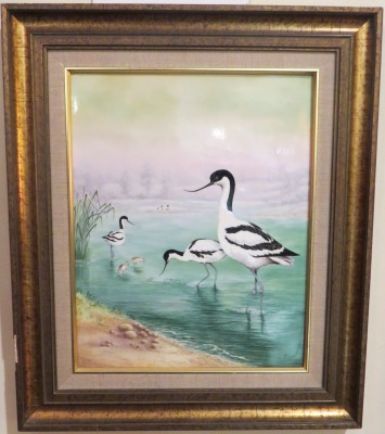 A Boehm Oil Painting on Porcelain; #5 of a Limited Edition of 25