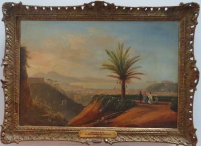 Oil on Canvas of Naples From Capo de Monte