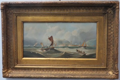 Oil on Canvas of an English Channel Scene