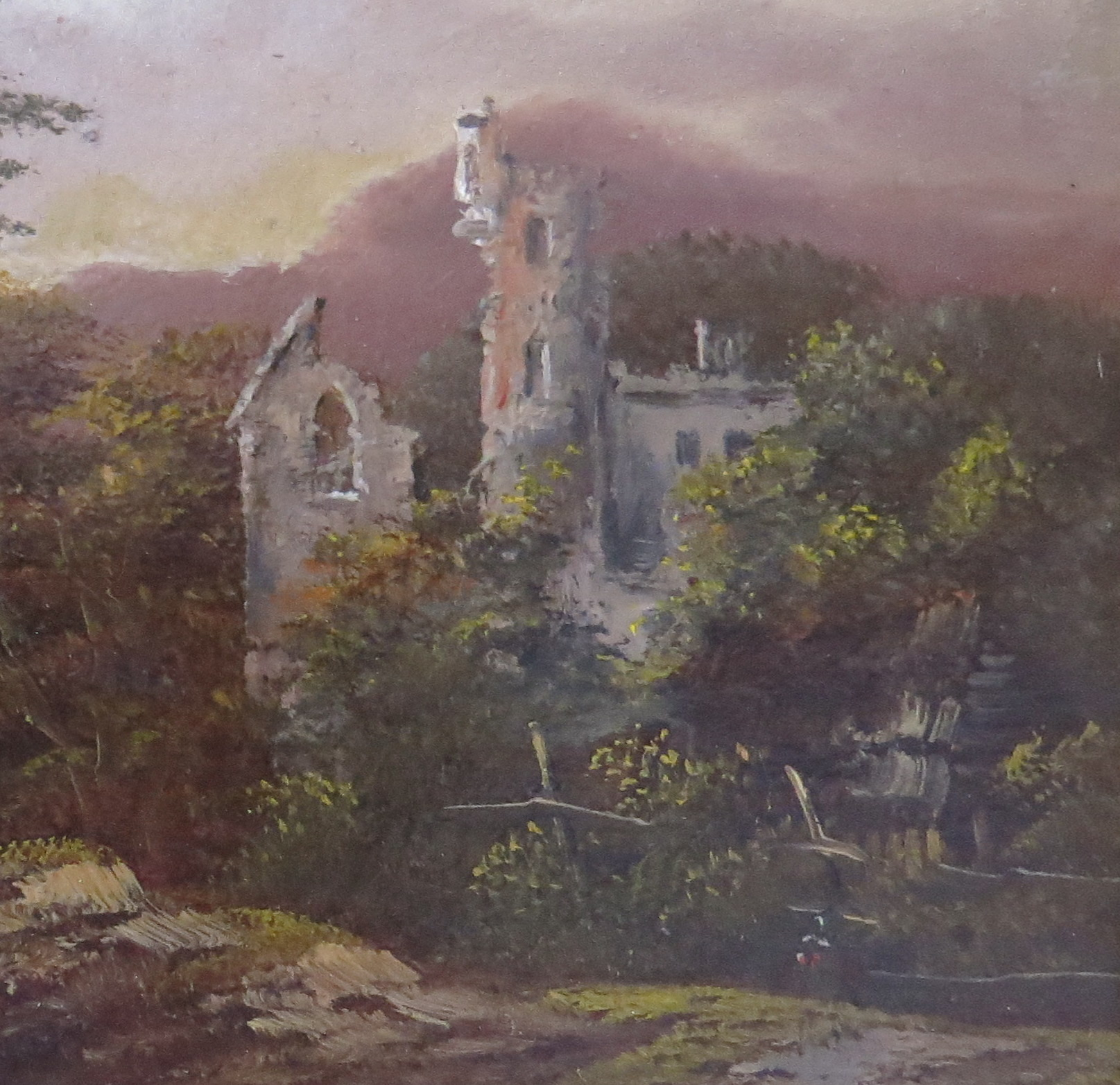 Oil on Panel of an English Landscape, signed C. Morris