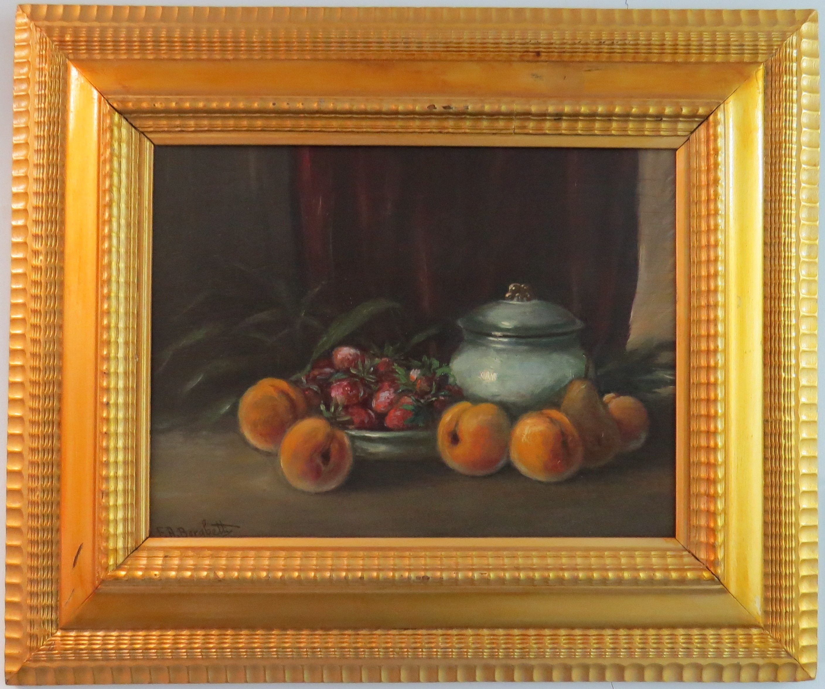 Oil on Panel of a Still Life, signed E.A. Borabetti (Italian, 1880)