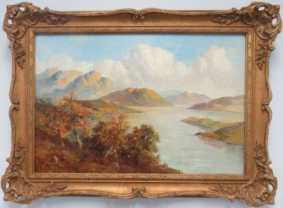 Oil on Canvas of an English Landscape, signed F.E. Jamison (1870)