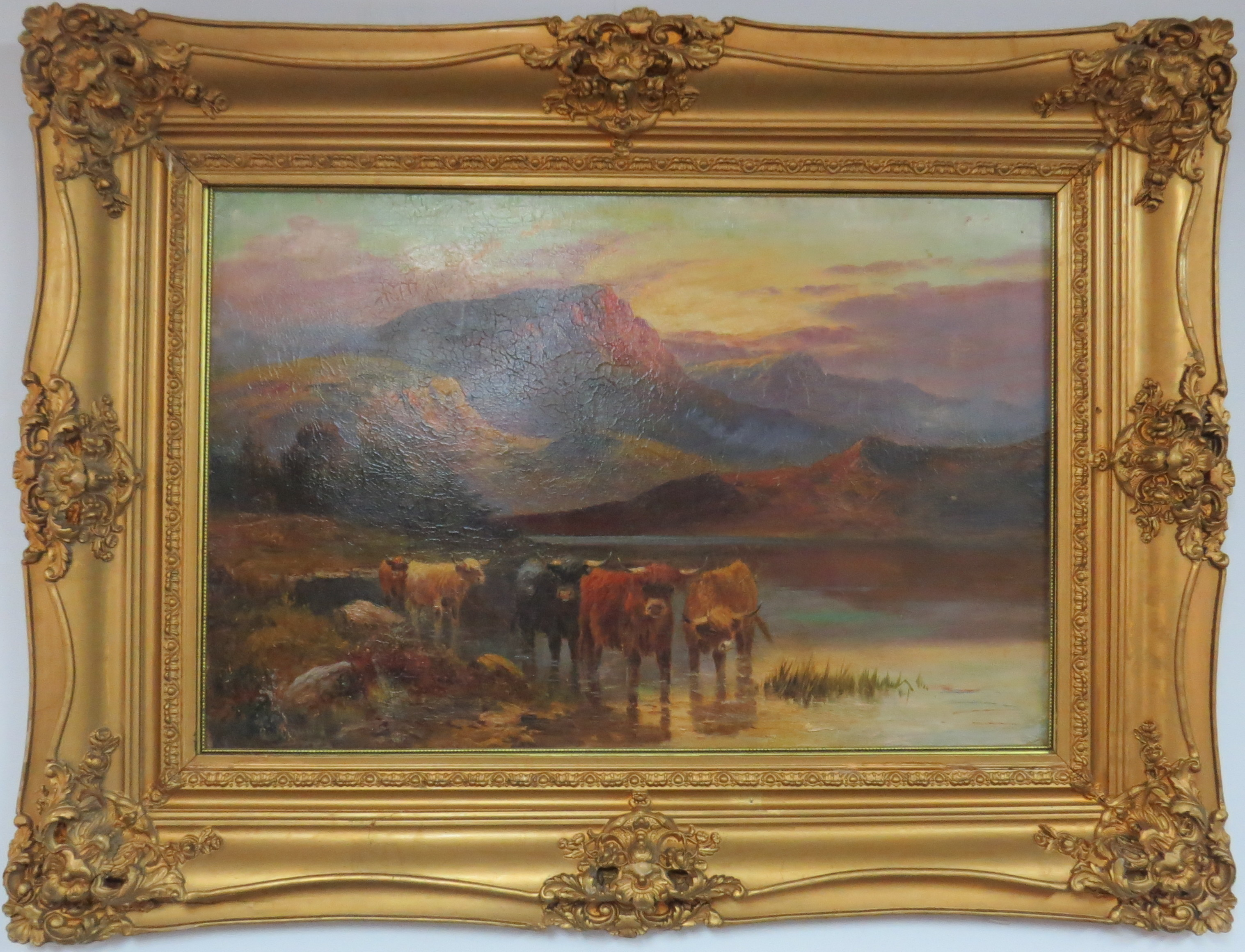 Oil on Panel of a Continental Landscape Scene, Signed Caldwell