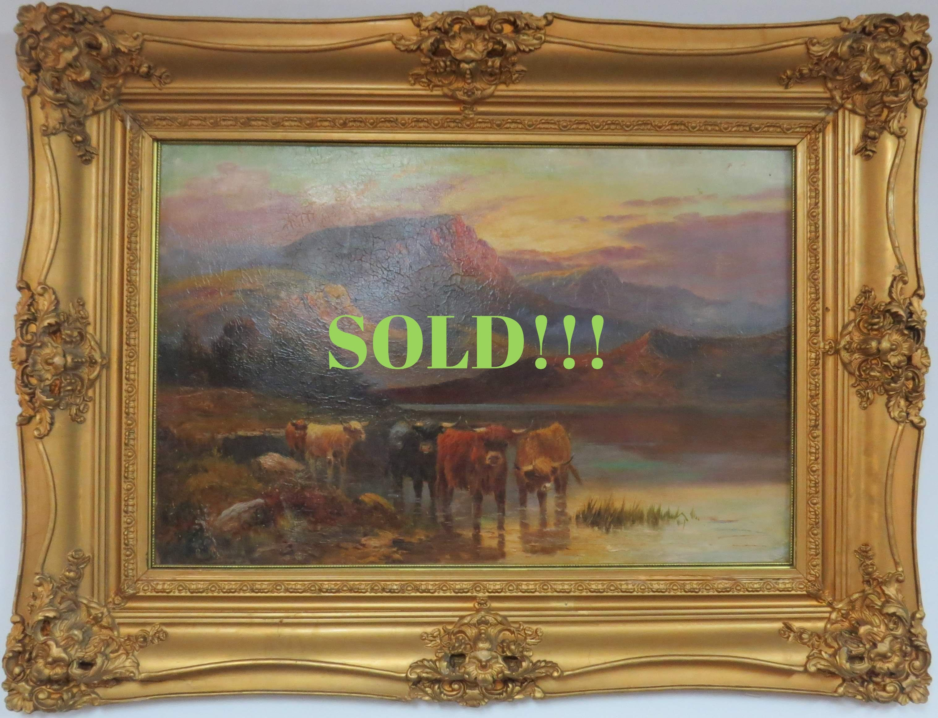 Oil on Panel of a Continental Landscape Scene, Signed Caldwell  (SOLD)