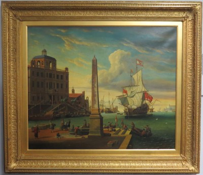 Oil on Canvas of the Grand Canal in Venice, Studio of Abraham Storck (Dutch 1644-1708)